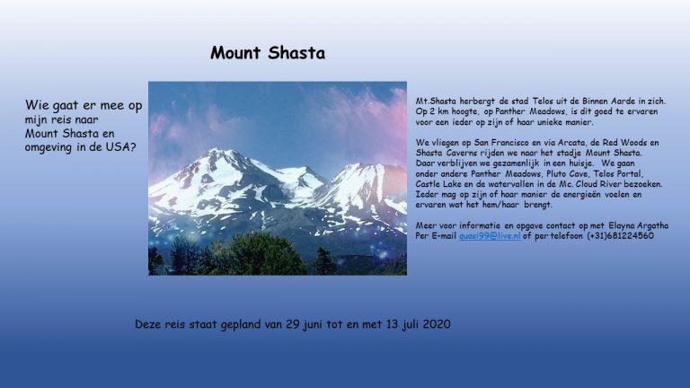Mount Shasta 29 juni t/m 13 juli 2020 (In verband met het coronavirus gaat deze reis voorlopig niet door)